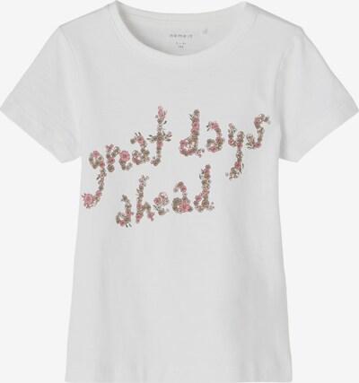 NAME IT T-Krekls 'Jasmin', krāsa - olīvzaļš / rozā / rožkrāsas / balts, Preces skats