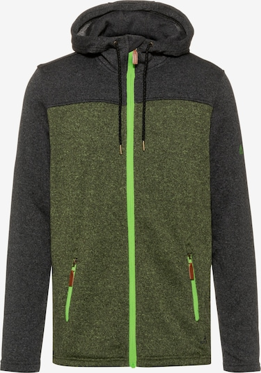 OCK Jacke in dunkelgrau / grün, Produktansicht