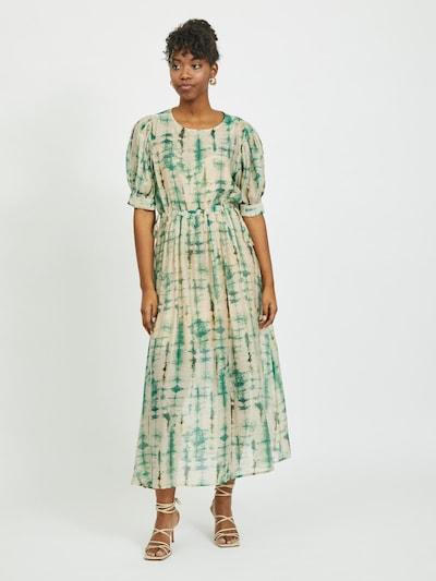 VILA Kleid 'Linua' in ecru / grün, Modelansicht
