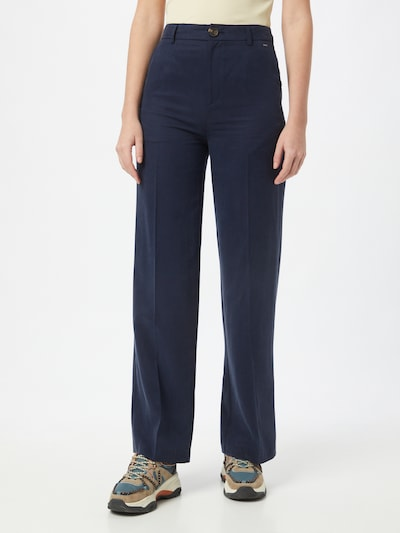 Pepe Jeans Pantalon à plis 'CHARIS' en bleu, Vue avec modèle