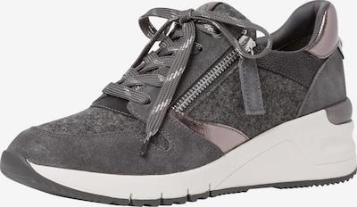 sötétszürke / ezüst TAMARIS Rövid szárú edzőcipők, Termék nézet