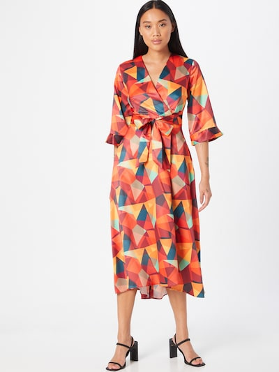 Closet London Šaty - zmiešané farby / oranžová, Model/-ka