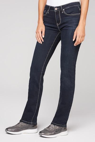 Soccx Regular Fit Jeans RO:MY mit geradem Bein in dunkelblau, Modelansicht