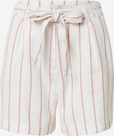 EDC BY ESPRIT Pantalon à pince en rose / blanc cassé, Vue avec produit