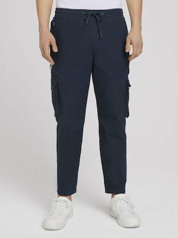 TOM TAILOR DENIM Klapptaskutega püksid, värv sinine