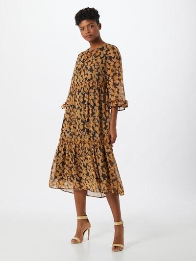 OBJECT Kleid in braun / schwarz, Modelansicht