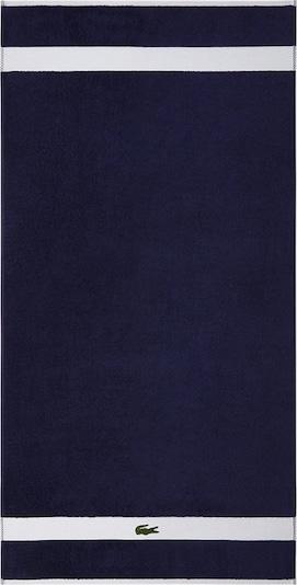 LACOSTE Duschtuch in dunkelblau / weiß, Produktansicht