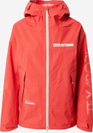 JACK WOLFSKIN Zunanja jakna 'OFFSHORE' | rdeča / bela barva, Prikaz izdelka