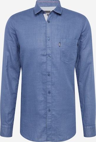 BOSS Casual Hemd 'Magneton' in Blau