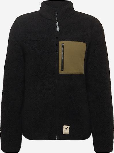 Fat Moose Fleecejacke 'Hugh' in khaki / schwarz, Produktansicht