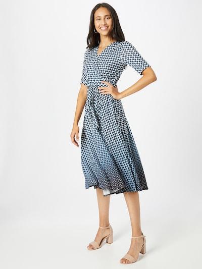 GERRY WEBER Kleid in cyanblau / dunkelblau / weiß, Modelansicht