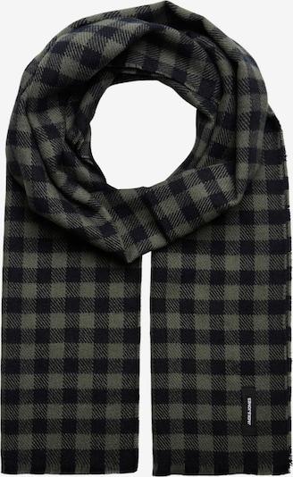 JACK & JONES Sjaal 'Gingham' in de kleur Kaki / Zwart, Productweergave