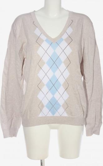 Gina Benotti V-Ausschnitt-Pullover in XXL in creme / türkis / weiß, Produktansicht