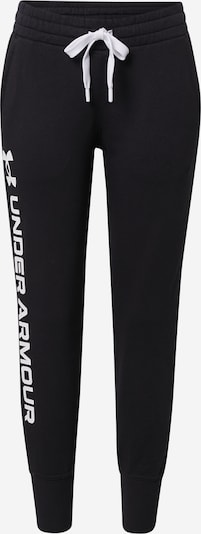 UNDER ARMOUR Sports trousers 'Rival' in black / white, Item view