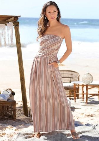 LASCANA Dress in Beige