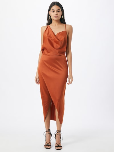 Missguided Kleid in orangerot, Modelansicht