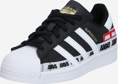 Sneaker 'SUPERSTAR' ADIDAS ORIGINALS di colore oro / rosso fuoco / nero / bianco, Visualizzazione prodotti