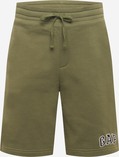 Pantaloni GAP pe kaki / negru / alb, Vizualizare produs