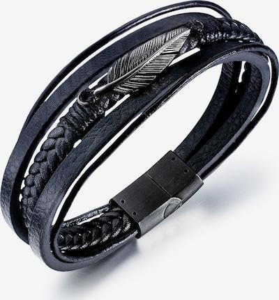 FIRETTI Firetti Armband in schwarz / silber, Produktansicht
