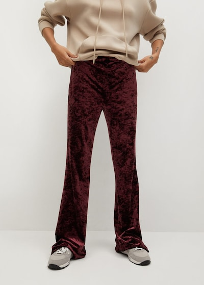 MANGO Pantalon 'Marta' en rouge rubis, Vue avec modèle