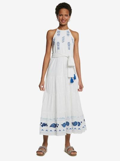 Desigual Kleid 'MEMPHIS' in blau / weiß, Modelansicht