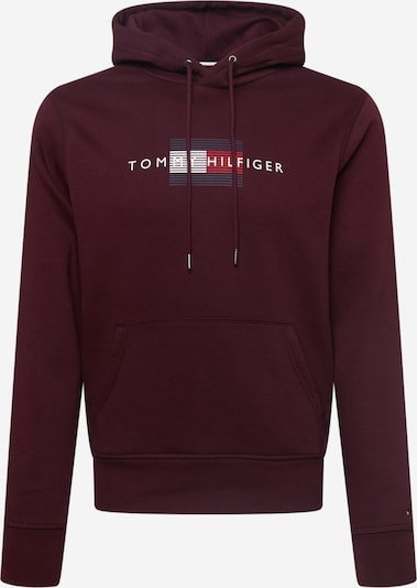 TOMMY HILFIGER Sweatshirt en navy / burgunder / weiß, Vue avec produit