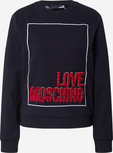 Love Moschino Mikina 'Sweatshirt' - červená / čierna / biela, Produkt