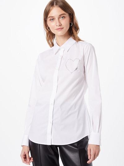 Love Moschino Bluse in weiß, Modelansicht