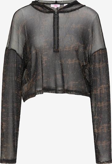 MYMO Langarmshirt in braun / schwarz, Produktansicht