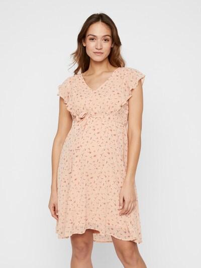 MAMALICIOUS Kleid 'Rebeca' in pfirsich / weiß, Modelansicht