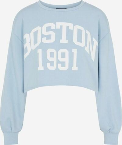 PIECES Sweatshirt in opal / weiß, Produktansicht