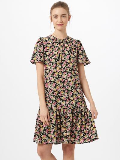 ONLY Kleid 'STINE' in grün / pink / schwarz / weiß, Modelansicht