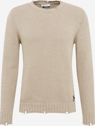 REPLAY Pullover in beige, Produktansicht