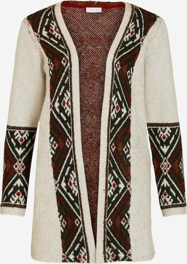 VILA Strickjacke in beige / braun / dunkelgrün / rot / schwarz, Produktansicht