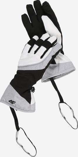 4F Sporthandschuhe in grau / schwarz / weiß, Produktansicht