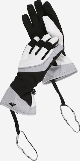 4F Sporta cimdi pelēks / melns / balts, Preces skats