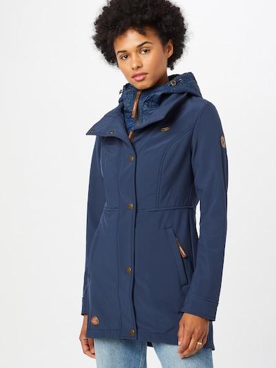 Demisezoninis paltas 'YBELA' iš Ragwear, spalva – indigo spalva, Modelio vaizdas