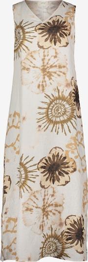 Cartoon Sommerkleid mit Print in camel / dunkelbraun / weiß, Produktansicht