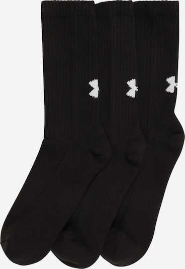 UNDER ARMOUR Chaussettes de sport en noir / blanc, Vue avec produit