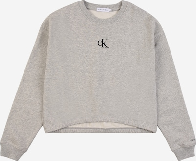 Calvin Klein Jeans Sweatshirt in graumeliert / schwarz, Produktansicht