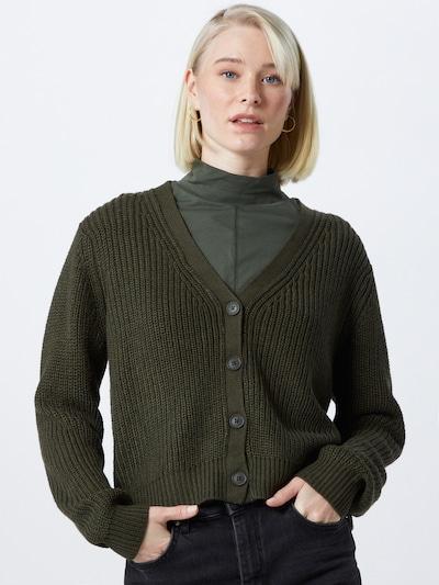 ONLY Strickjacke 'ONLSOOKIE' in dunkelgrün, Modelansicht