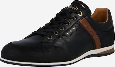 PANTOFOLA D'ORO Zemie brīvā laika apavi 'Roma', krāsa - kastaņbrūns / melns, Preces skats