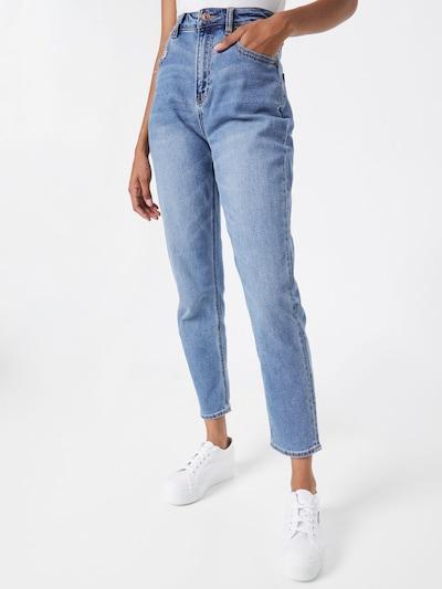Jeans American Eagle pe albastru denim, Vizualizare model