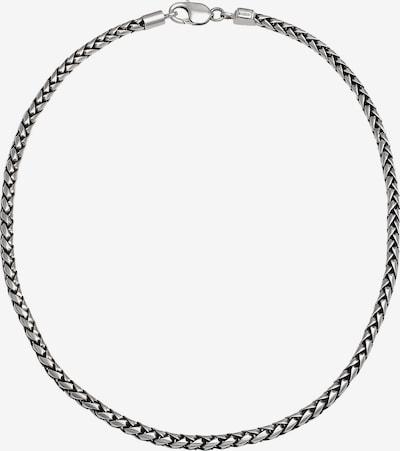 KUZZOI Halskette Basic Kette in schwarz / silber, Produktansicht