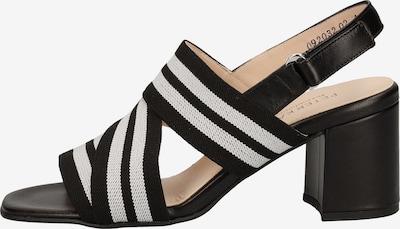PETER KAISER Sandalen in schwarz / weiß, Produktansicht