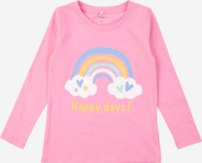 Maglietta 'DIRGA' NAME IT di colore blu fumo / blu chiaro / arancione / rosé / bianco, Visualizzazione prodotti