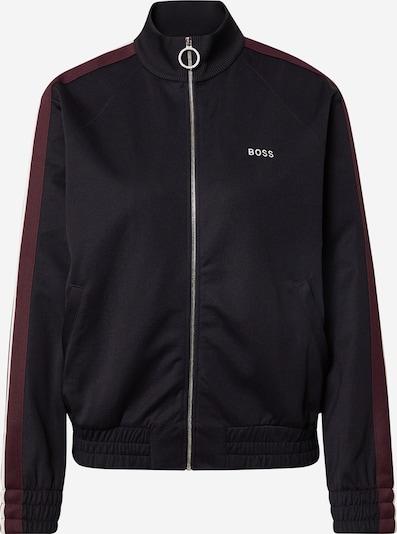 BOSS Casual Zip-Up Hoodie 'Emaya' in Navy / Wine red / White, Item view