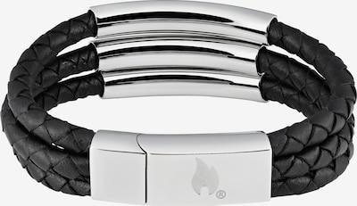 ZIPPO Lederarmband aus 3 Streifen in schwarz, Produktansicht
