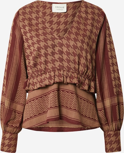 Cecilie Copenhagen Blouse 'Evelyn' in Light brown / Rusty red, Item view