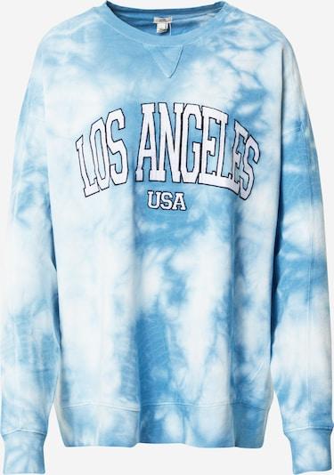 River Island Sweatshirt ' LOS ANGELES' in himmelblau / weiß, Produktansicht